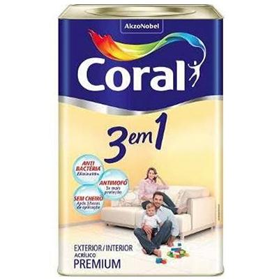 Tinta Acrílica 3 em 1 – Coral